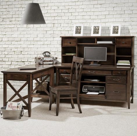 Newport Amish Office Furniture Set Corner Amish Desks