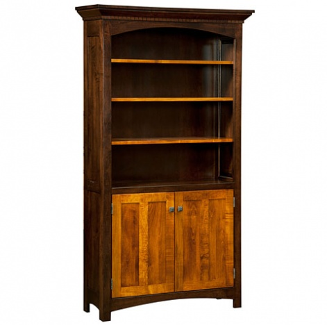 Lakewood Cabinet Bookcase - Amish Handmade Bookcases - Office ...