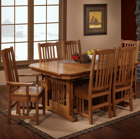 Outstanding Hacienda Amish Dining Room Set Beutiful Home Inspiration Aditmahrainfo