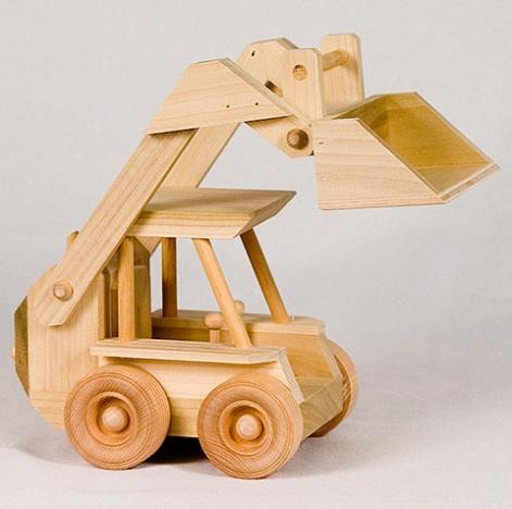 Toy Skid Loader Wooden Farm Toys Amish Barns