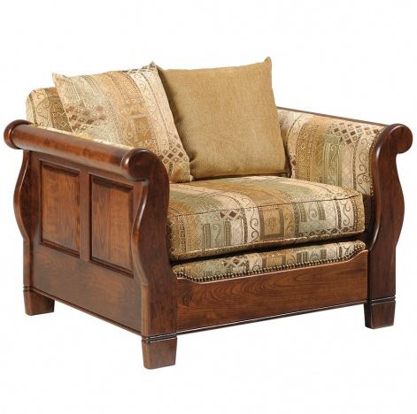 Belvedere Sleigh Amish Chair Handmade Furniture Cabinfield Fine