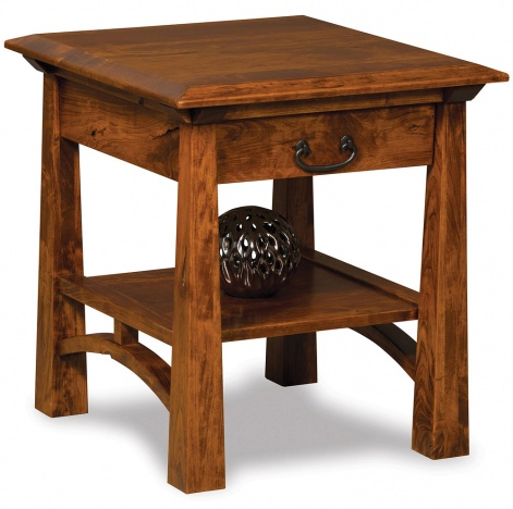 Accent End Table Amish Solid Wood Mission Style Side