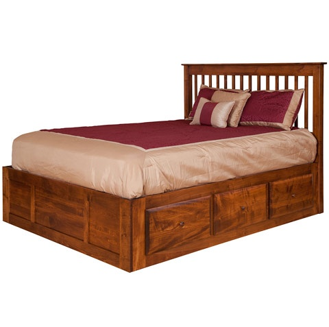 modern bed frame with headboard: contemporary solid wooden twin