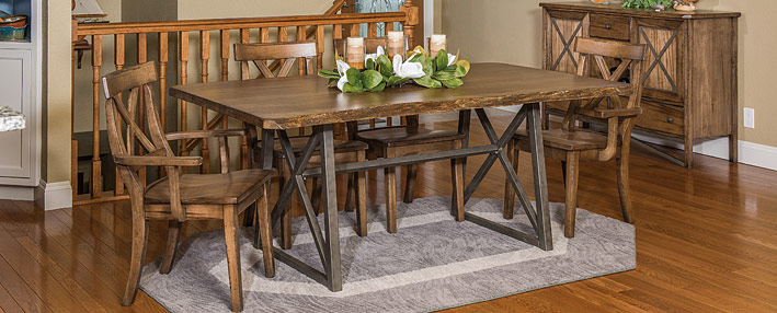 Dining Room Table Sets:Farmhouse Table and Chairs, Rustic Table ...