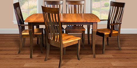 Heirloom Quality Amish Dining Room Furniture. Contemporary Collection