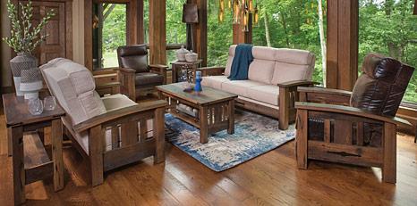 amish living room furniture. Rustic Sophisticates Amish Living Room Furniture  Sofas Tables Cabinfield
