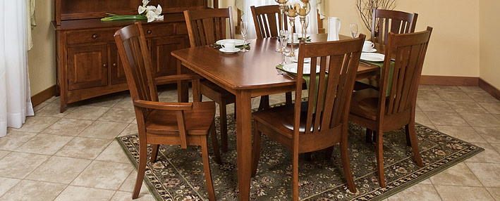 Contemporary Amish Dining Room Sets - Amish Furniture   Cabinfield ...