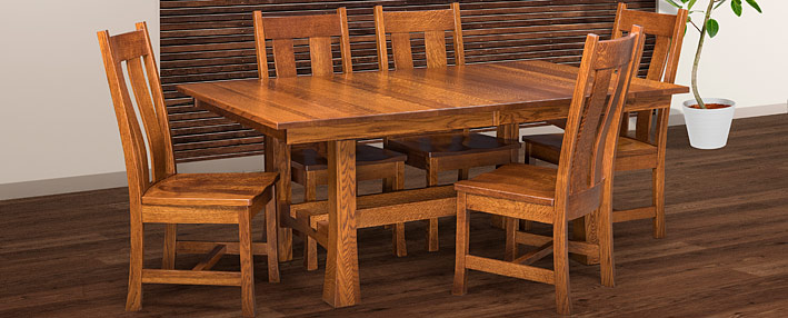 Amish Dining Room Tables Chairs Sets Mission Style Cabinfield