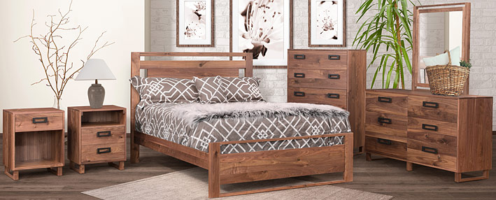 Contemporary Bedroom Furniture - Amish Bed Sets   Cabinfield Fine ...
