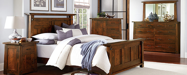 Amish Bedroom Furniture - Mission Style Amish Bed Sets | Cabinfield ...