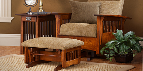 Amish Living Room Furniture - Amish Sofas & Tables | Cabinfield ...