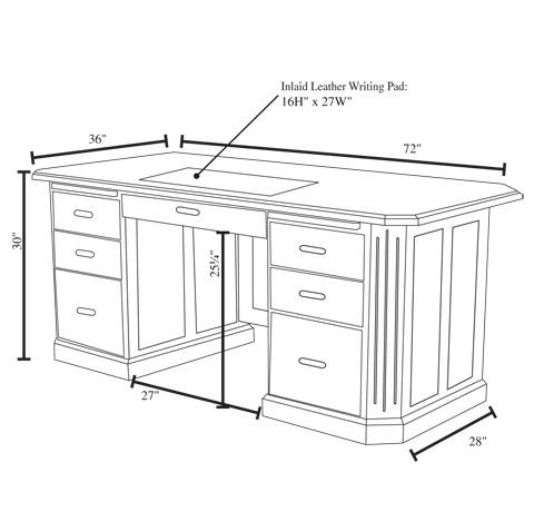 executive desk dimensions online