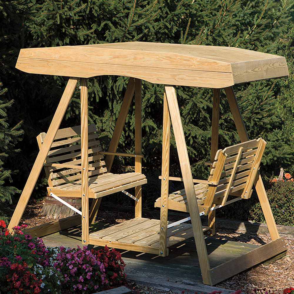 Double Outdoor Amish Swing Amish Outdoor Furniture Cabinfield