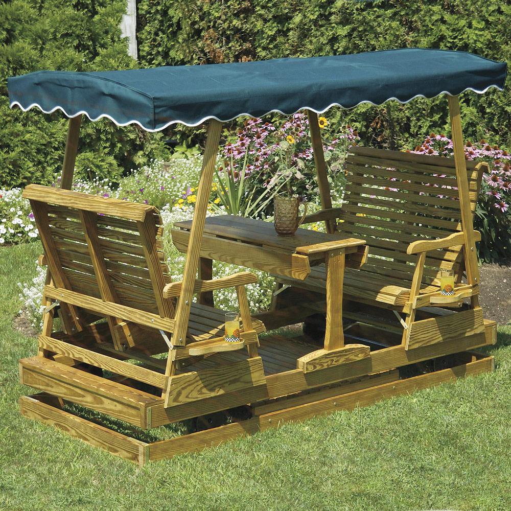 Keystone Wood Amish Glider Amish Outdoor Furniture Cabinfield
