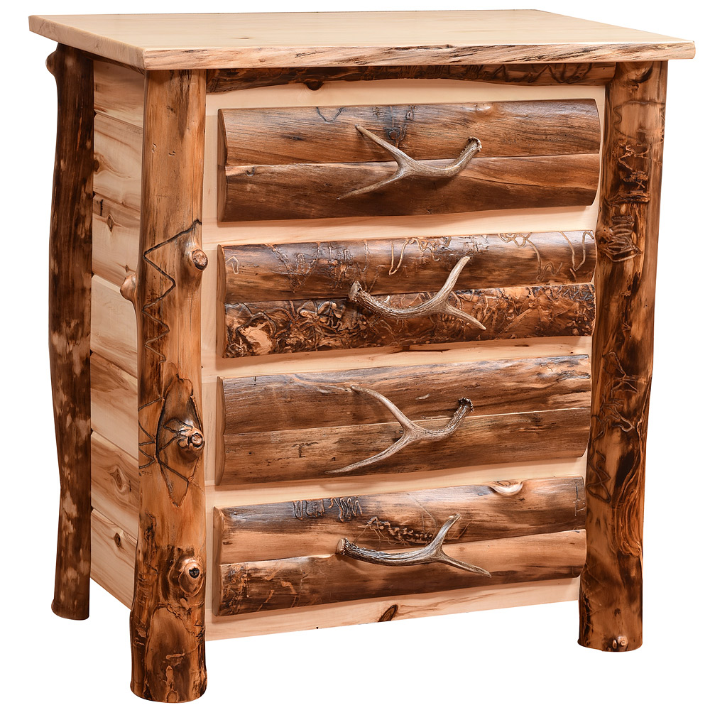 Rocky Mountain Amish Chest Of Drawers Log Furniture Cabinfield Fine Furniture