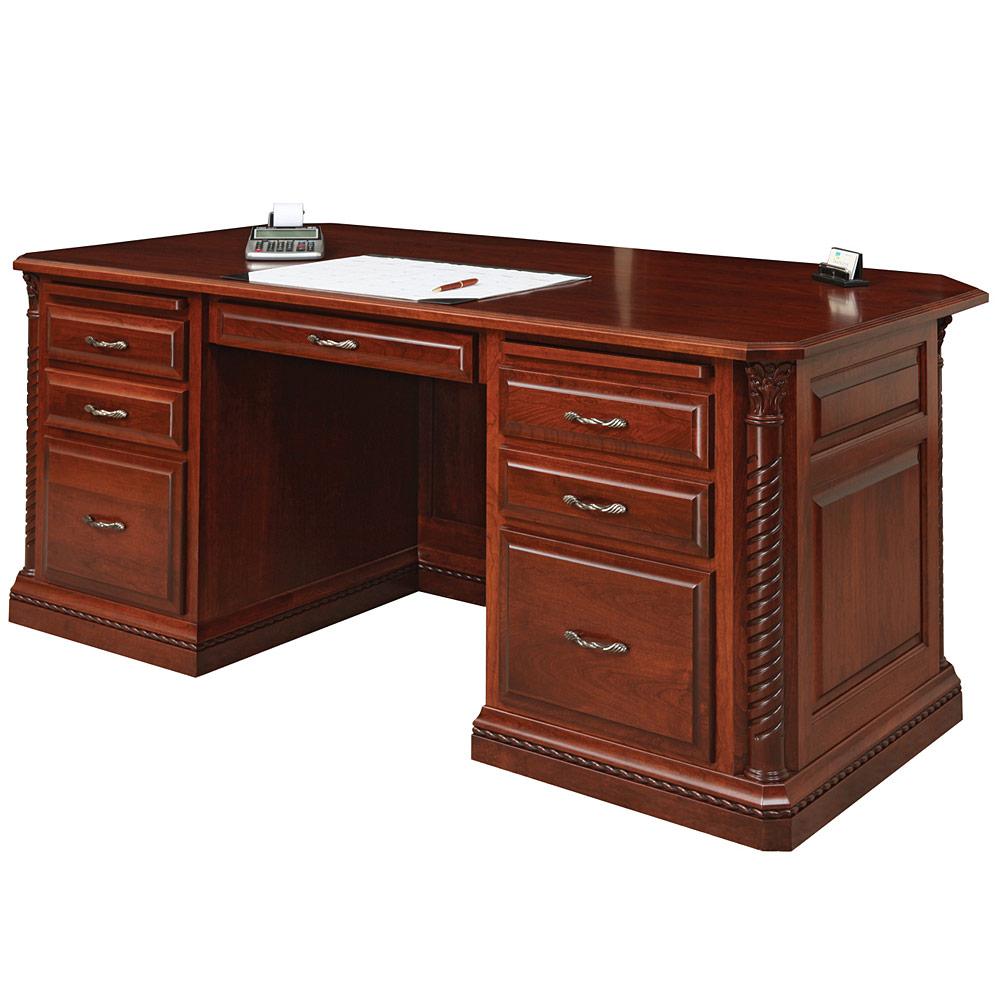 Lexington Executive Amish Desk Amish Office Furniture