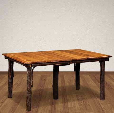 Amish living room tables hickory table rustic dining for Dining room table 42 x 60