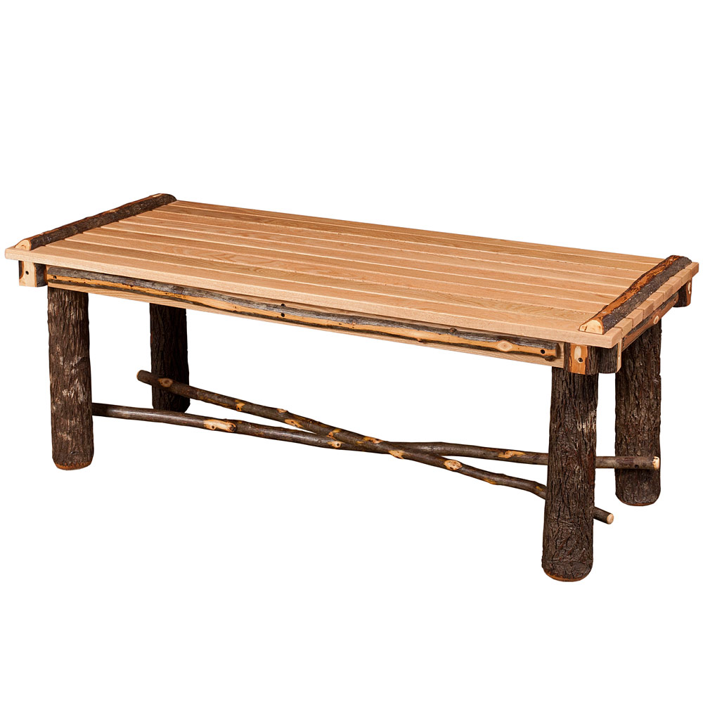Amish Hickory Tables Hickory Coffee Table Rustic Home Accents
