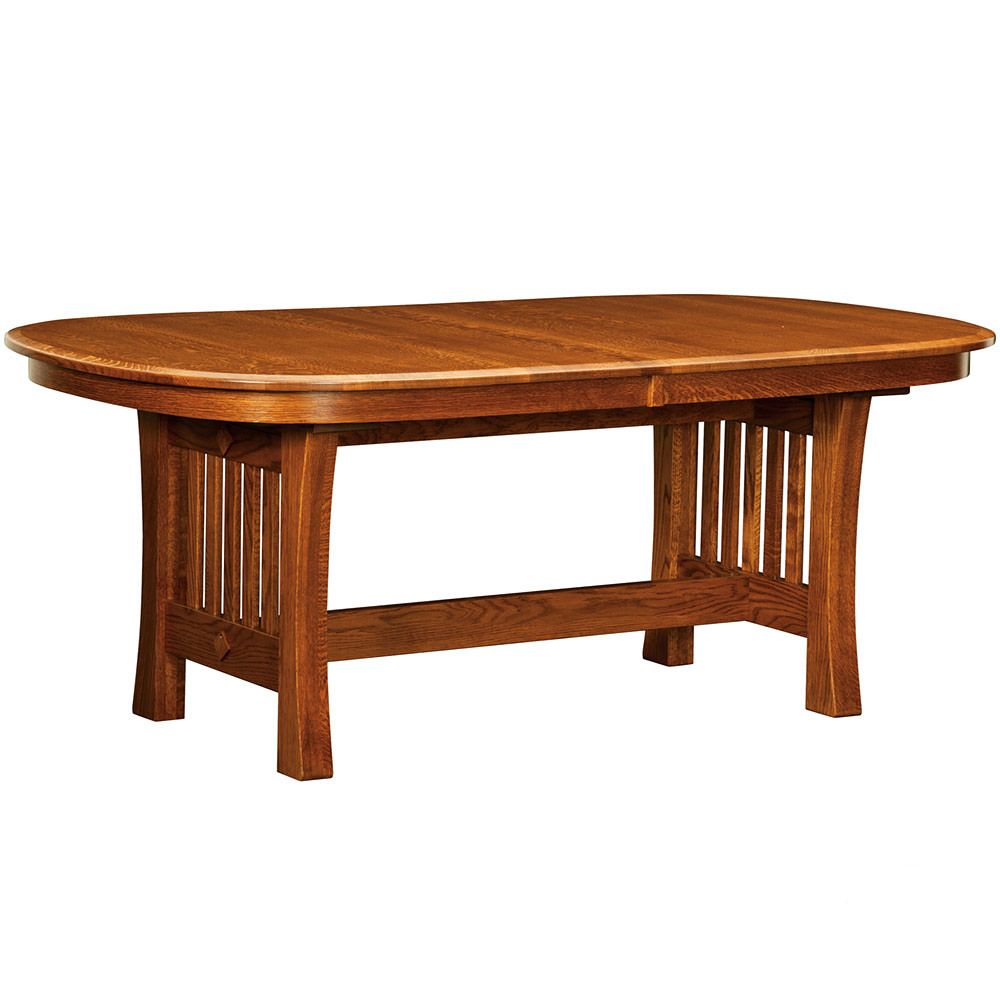 Edgebrook Trestle Amish Dining Table Furniture Cabinfield Fine
