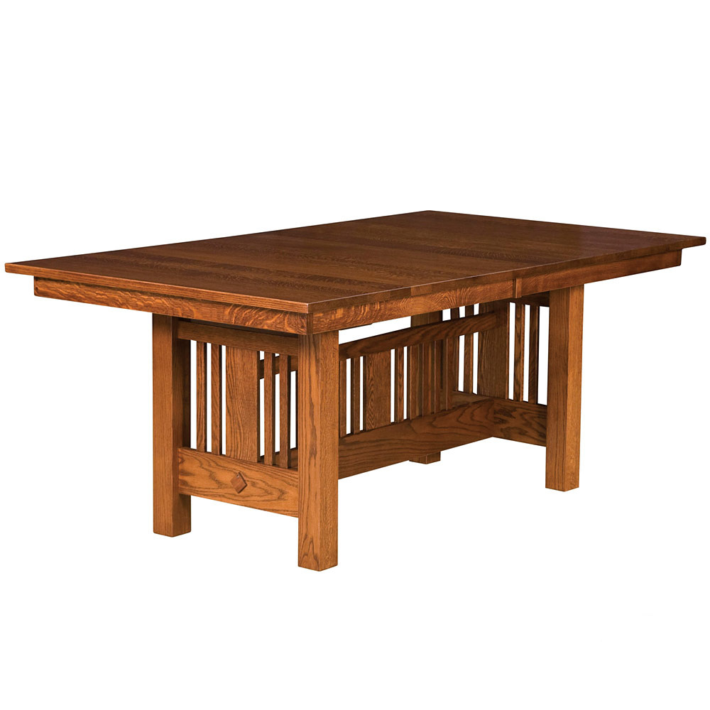 Pleasing Wilmette Trestle Amish Dining Table Home Interior And Landscaping Ologienasavecom