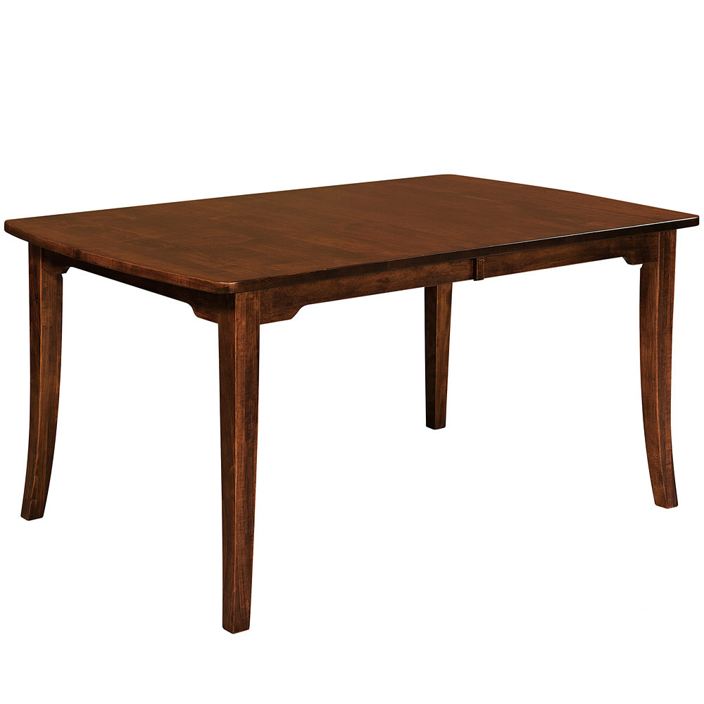 Solid wood dining table amish kitchen table oak dining for Mission style kitchen table