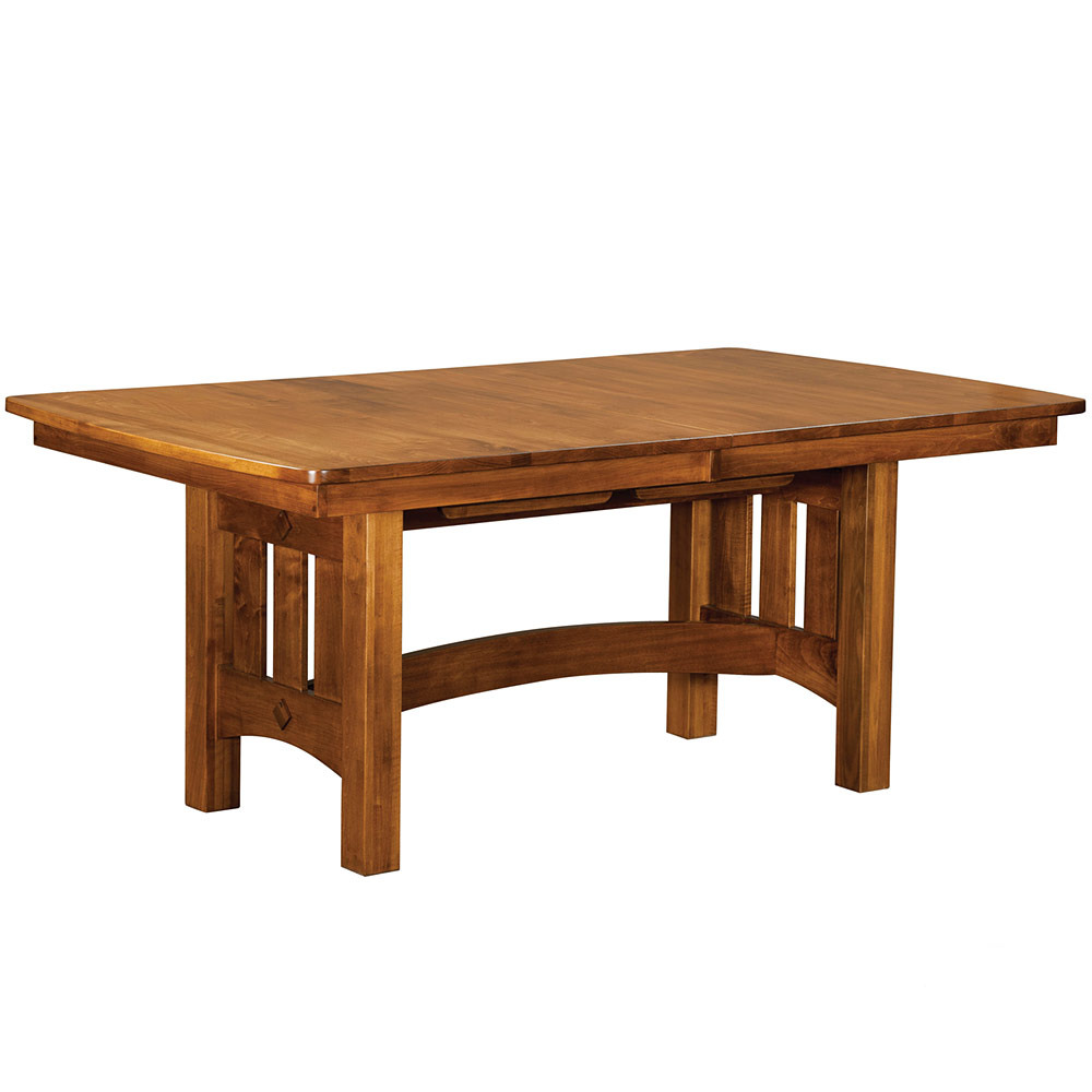 Mission Trestle Table Solid Wood Dining Table Oak Dining Table Amish Dining Furniture Handmade