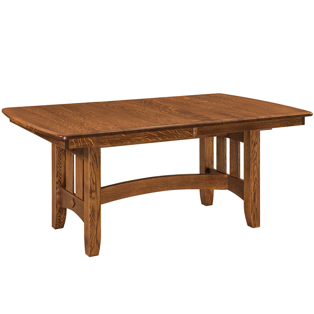 Galena Trestle Amish Dining Table Furniture Cabinfield Fine
