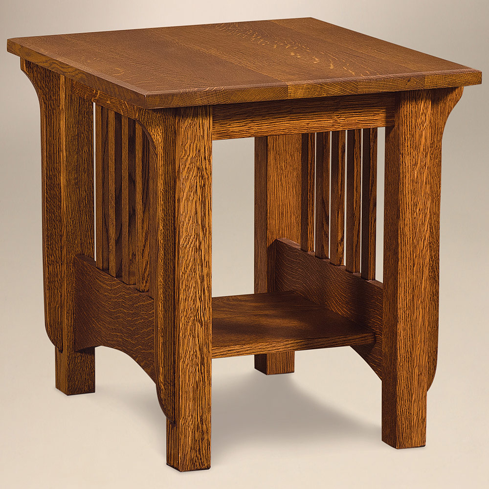 Pioneer Amish End Table – Amish Living Room Furniture | Cabinfield ...
