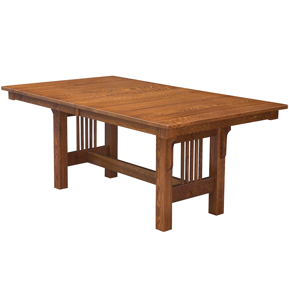 Van Ness Trestle Amish Dining Table Furniture Cabinfield Fine