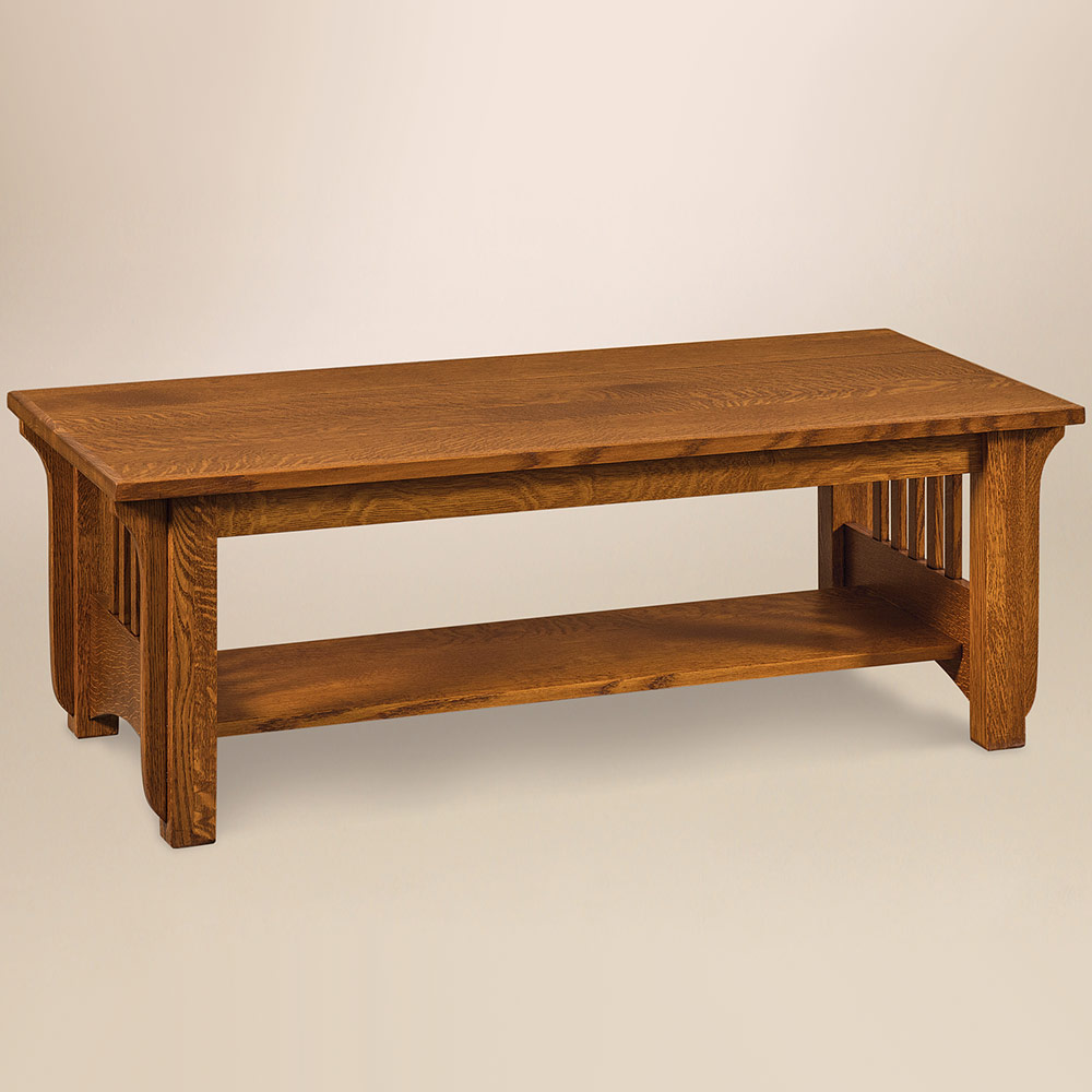 Pioneer Amish Coffee Table – Handmade Amish Furniture | Cabinfield ...