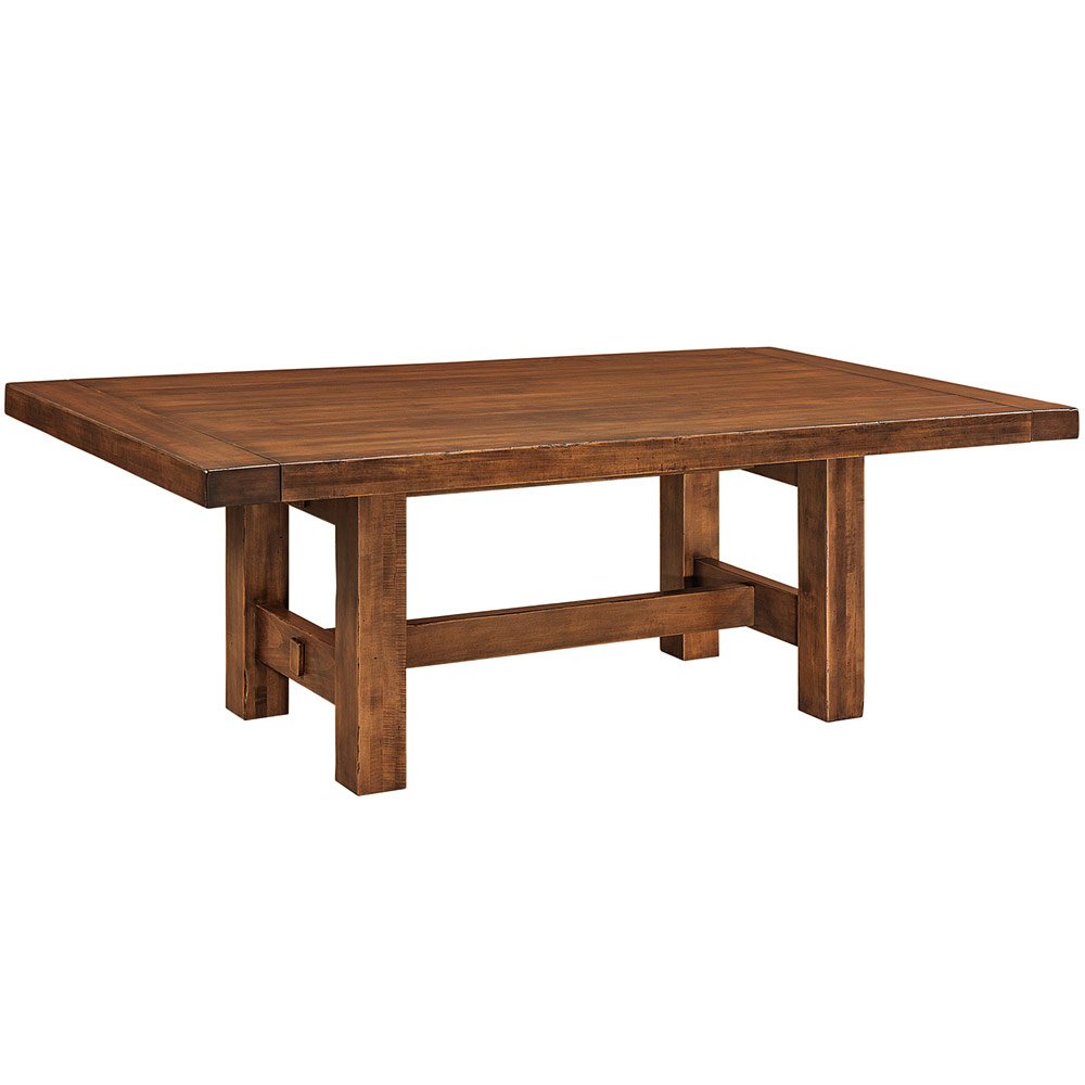 Wellington Trestle Amish Dining Table Furniture Cabinfield Fine