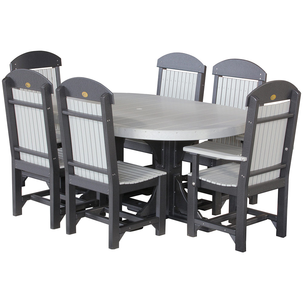 Glade haven oval table set amish patio furniture cabinfield fine furniture - Luxcraft fine outdoor furniture ...