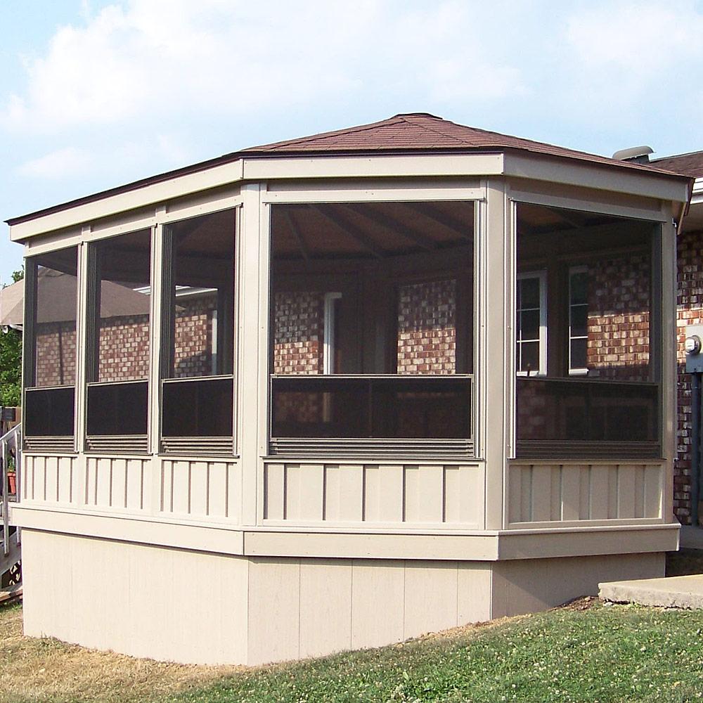 Vinyl Octagon And Oval Gazebo Room Amish Cedar Sunroom