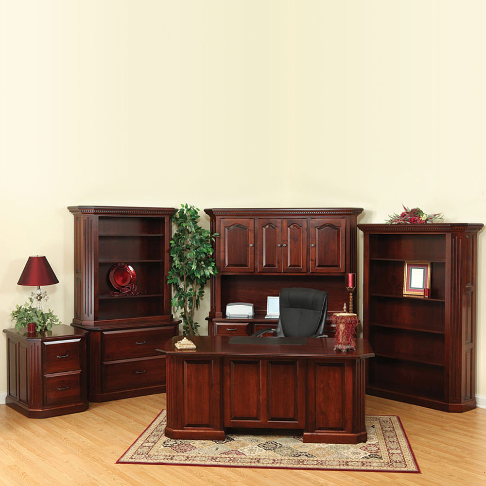Fifth avenue amish office furniture set amish desks for Furniture 5th avenue