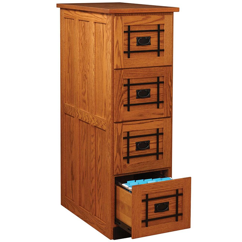 Mission Wood File Cabinet