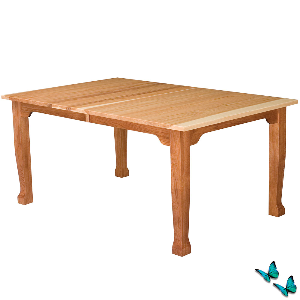 Heritage amish dining table handmade amish furniture for X leg dining room table