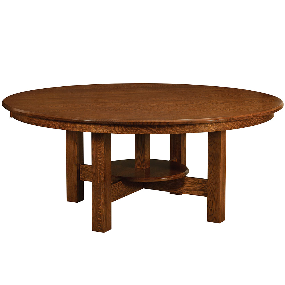 Conner round dining table amish dining room tables for Fine dining room furniture