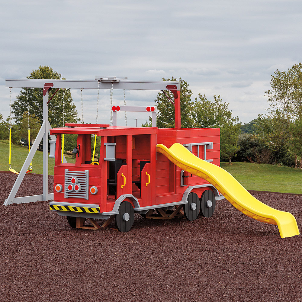Fire Truck Amish Wood Playset