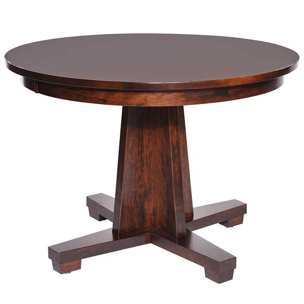 modern mission pedestal table amish dining tables cabinfield fine furniture. Black Bedroom Furniture Sets. Home Design Ideas