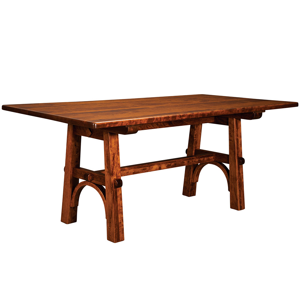 Eastwood trestle amish dining table amish furniture for Dining room tables 36 x 72