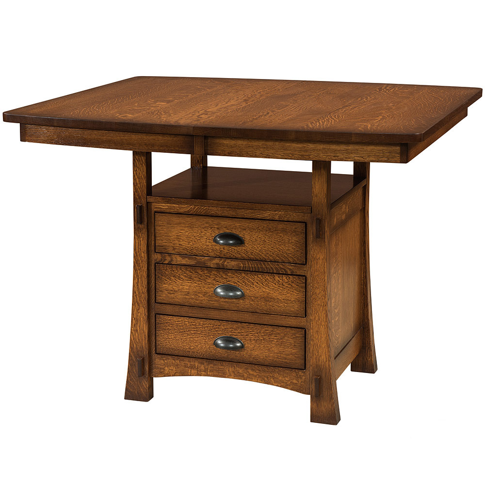 Modesto Cabinet Counter Table Amish Dining Tables