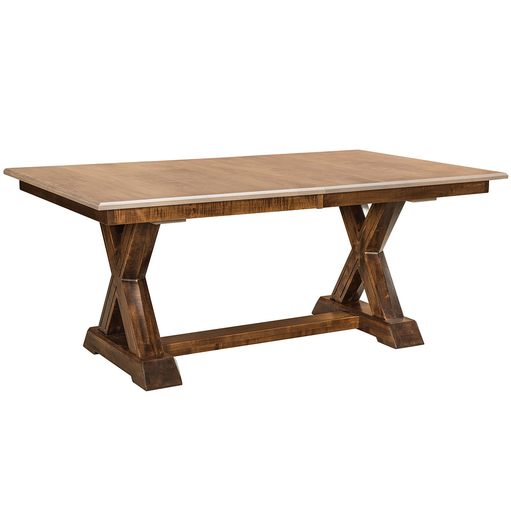 Knoxville Trestle Amish Kitchen Table Furniture Cabinfield Fine