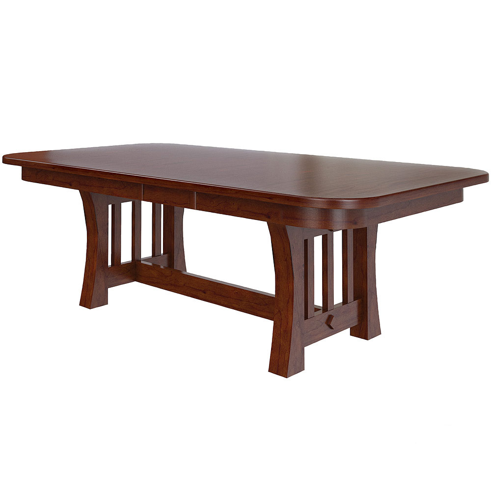 Curved mission amish kitchen table
