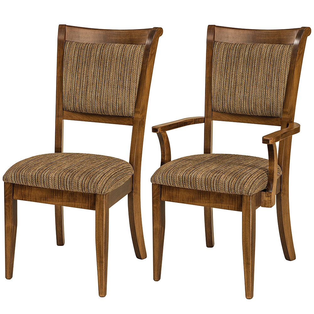 Adair amish dining chairs amish dining room furniture for Fine dining room furniture