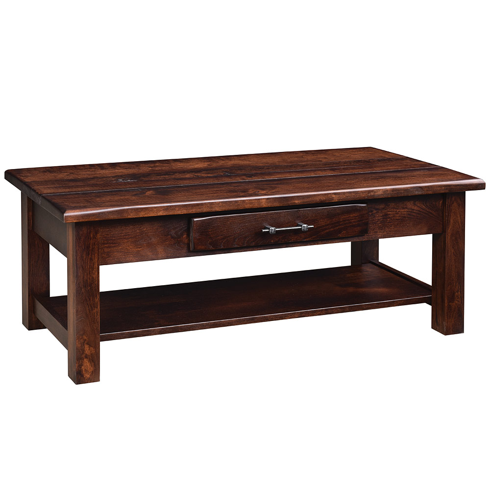 Barn Floor Amish Coffee Table Occasional Amish Tables Cabinfield Fine Furniture