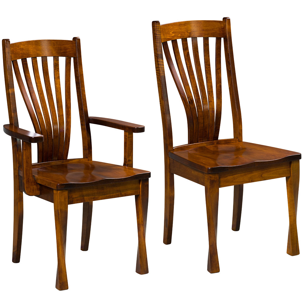 Contemporary Collection Ravelle Amish Dining Chairs