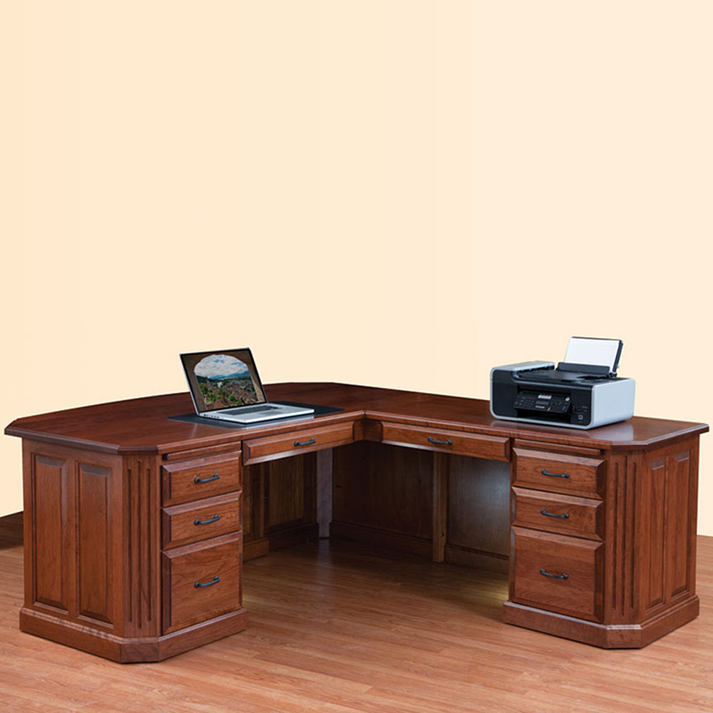 Fifth avenue executive l amish desk amish furniture for Furniture 5th avenue
