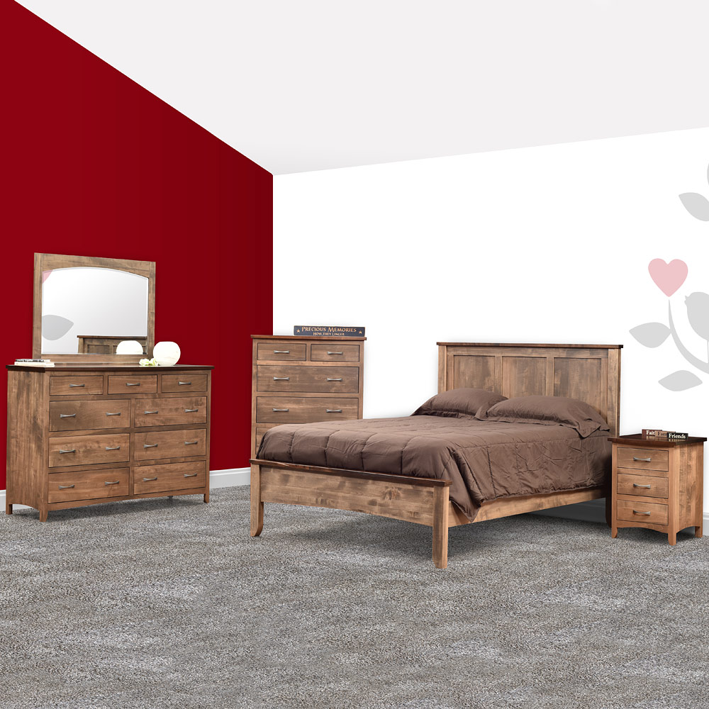 roxbury amish bedroom set amish bed amish dresser cabinfield fine furniture. Black Bedroom Furniture Sets. Home Design Ideas