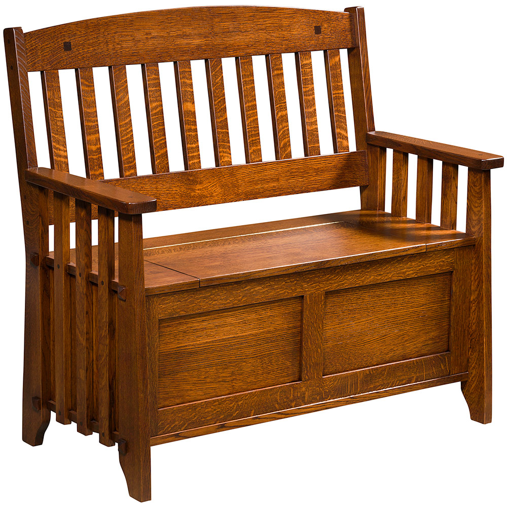 Stick Mission Amish Bench With Storage