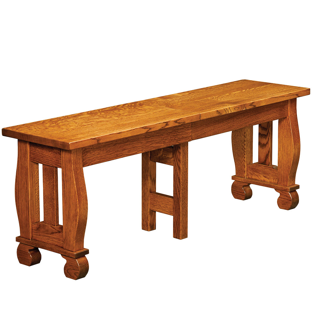 Olde Sleigh Amish Bench Amish Dining Room Furniture Cabinfield Fine Furniture